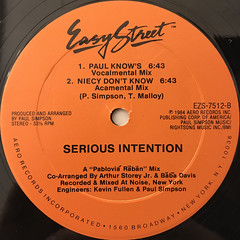 SERIOUS INTENTION:YOU DON'T KNOW(LABEL SIDE-B)