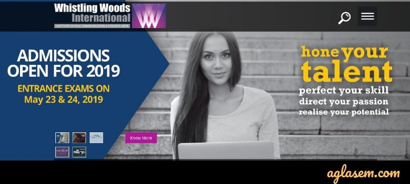 Registration Open for WHISTLING WOODS July Admission 2019; Exam on 23 & 24 May