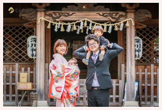 初宮参り 深川神社(愛知県瀬戸市) 家族写真