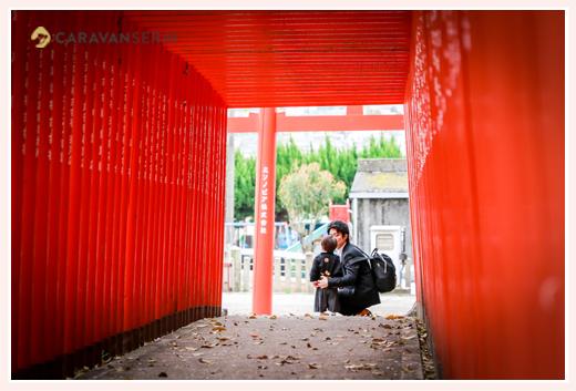 深川神社(愛知県瀬戸市) 男の子とパパ
