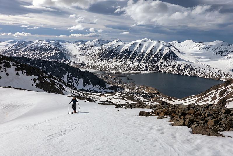 Scialpinismo in Islanda: Ólafsfjörður