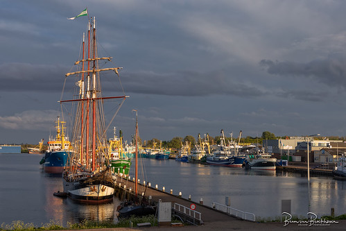 Tall Ship Oosterschelde in Stellendam Harbour
