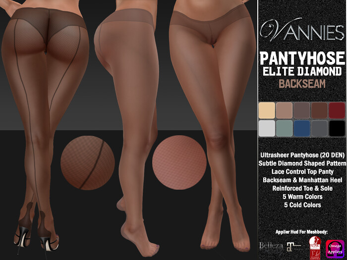 VANNIES Pantyhose Elite Diamond Backseam