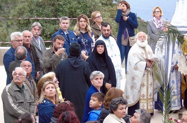 Εσπερινός στη γυναικεία Μονή του Αγίου Νικολάου στην Ιρά (Νιρά) Αθανίου