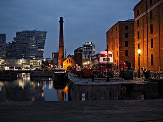 A quiet night in Liverpool.