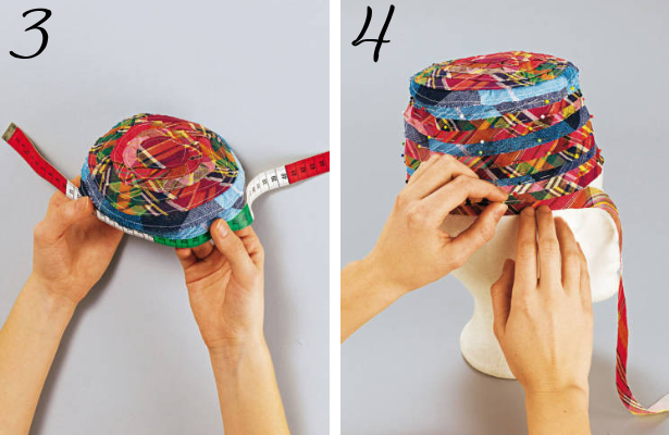 Beach Hat DIY Steps 3 4