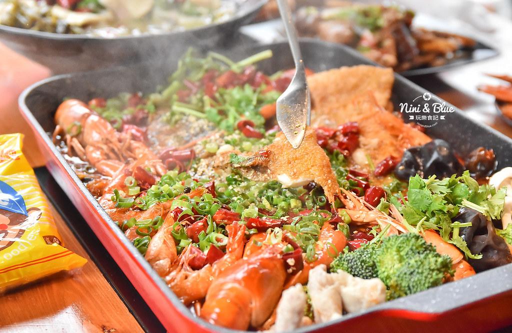 漁知香木桶魚 台中逢甲美食 麻辣烤魚 小龍蝦 水煮牛 四川烤魚34