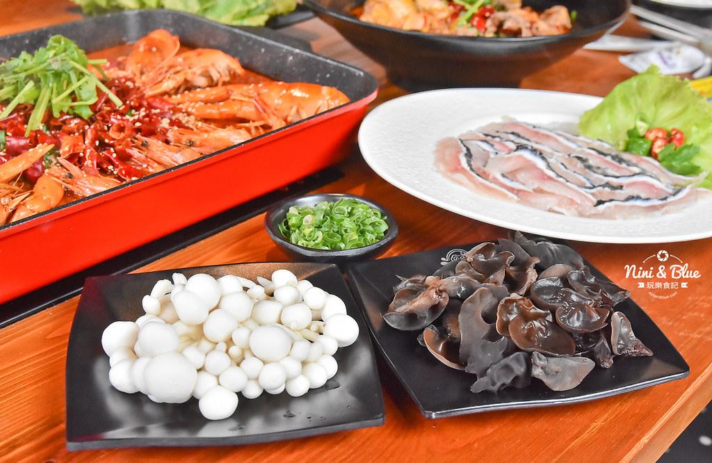 漁知香木桶魚 台中逢甲美食 麻辣烤魚 小龍蝦 水煮牛 四川烤魚31
