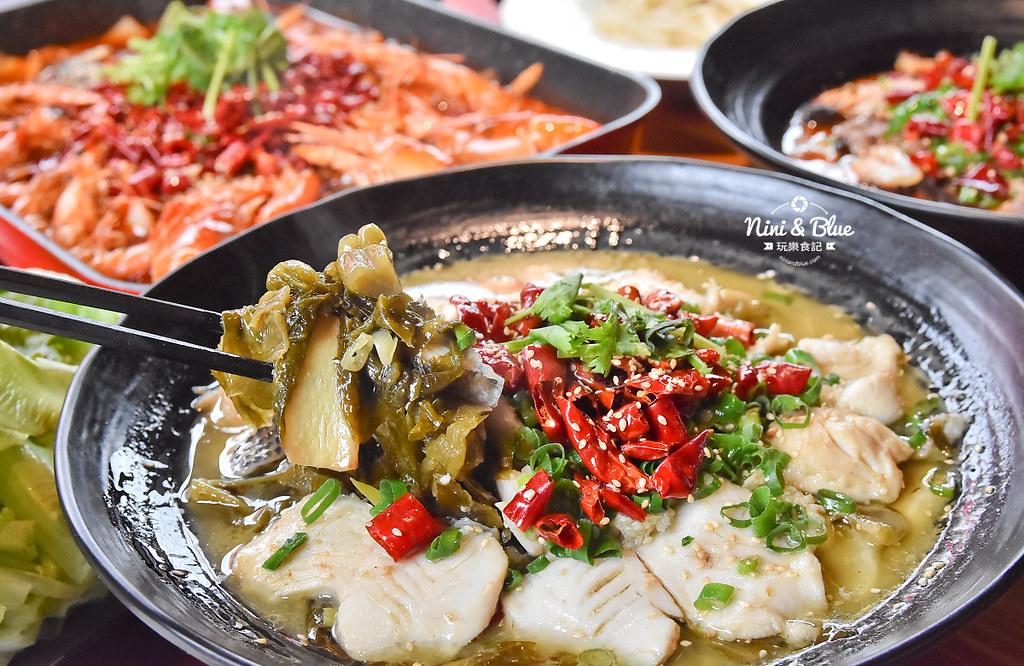 漁知香木桶魚 台中逢甲美食 麻辣烤魚 小龍蝦 水煮牛 四川烤魚26