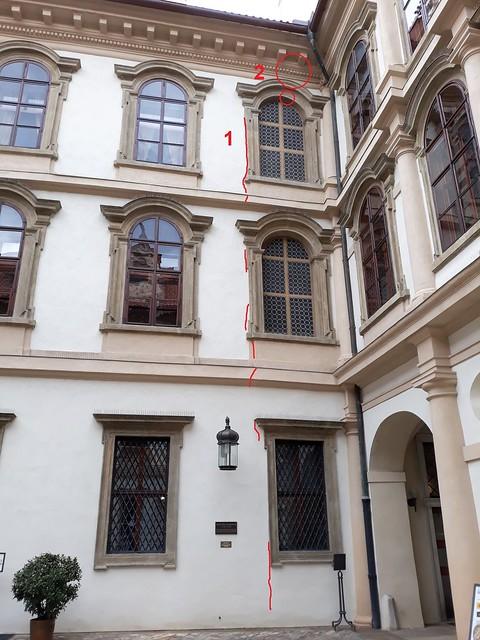 čp. 17/III, Valdštejnské nám. 4, Praha, Malá Strana (20190510) (Zákres poruch)