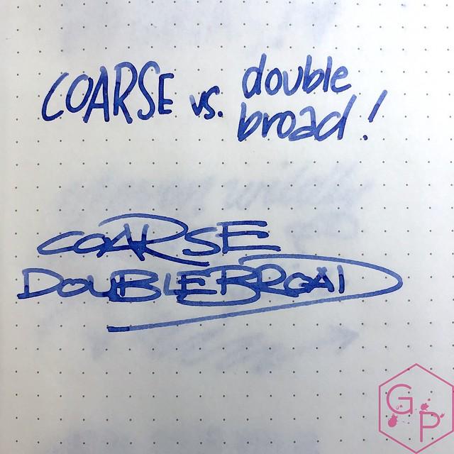 Platinum Coarse Nib vs. Nakaya Extra Broad Nib 2