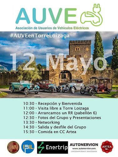 Quedada AUVE (con Club Tesla) en Torre Loizaga (cerca de Bilbao)
