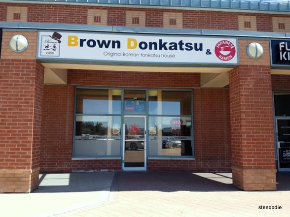 Sonoya and Brown Katsu storefront