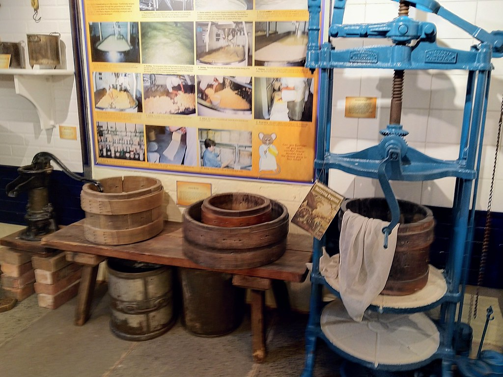 Cheese making displays in Nantwich Museum