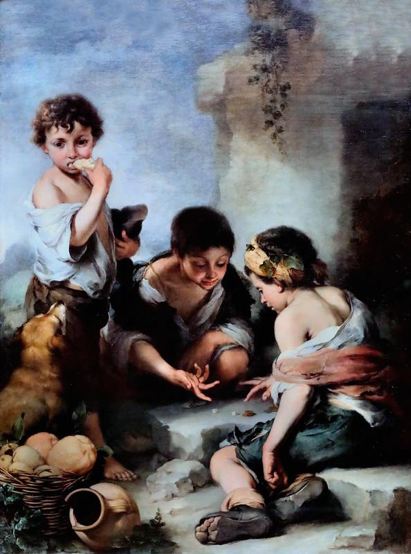 IMG_5078A Bartolome Esteban Murillo  1618-1682 Séville Jeunes mendiants jouant aux dés Young beggars playing dice  Munich  Altepinakothek
