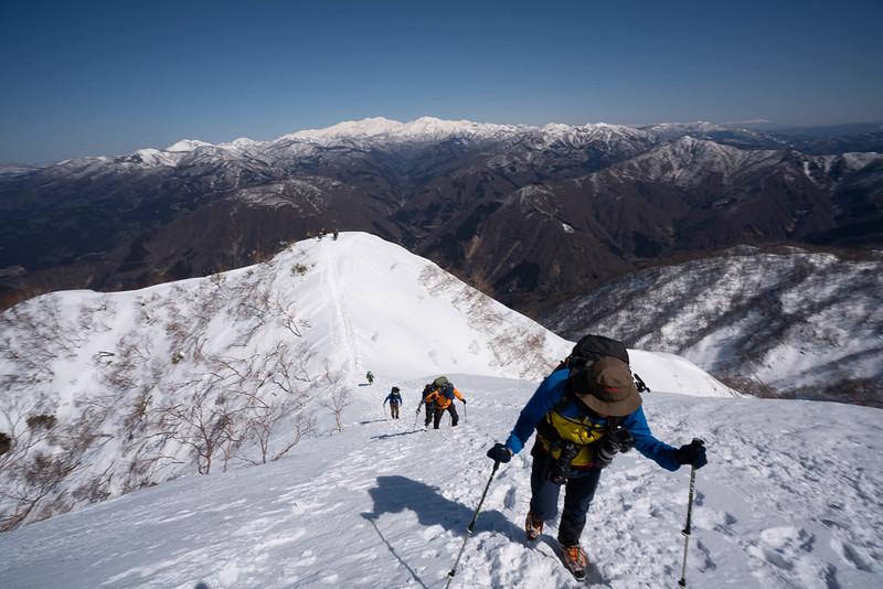 荒島岳から白山連峰