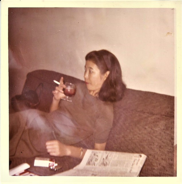 A glass of wine and an L&M, 1965