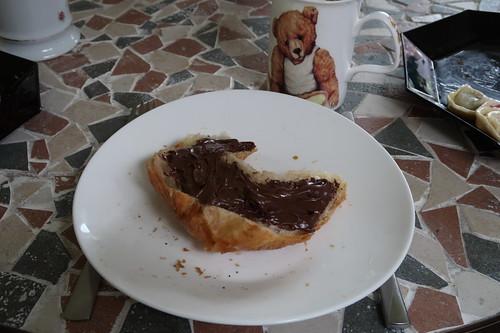 Croissant mit Nutella