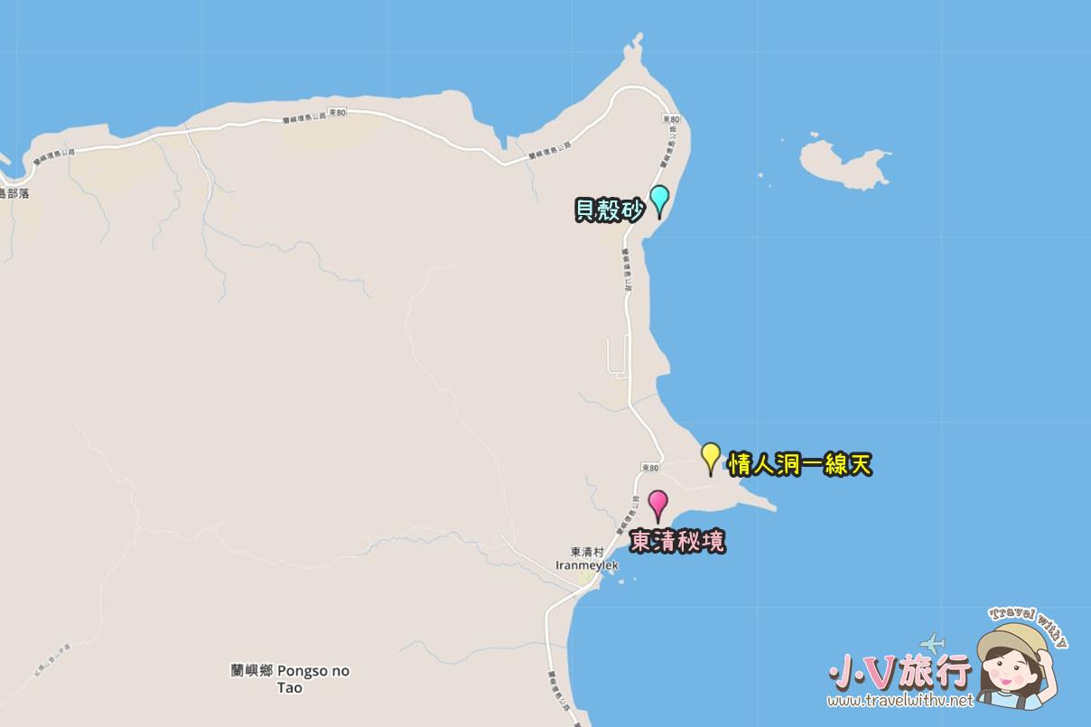 蘭嶼東清部落私房景點地圖