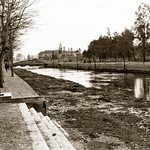 "November 1942 - ""Looking along the river that runs through Damascus, Syria"""
