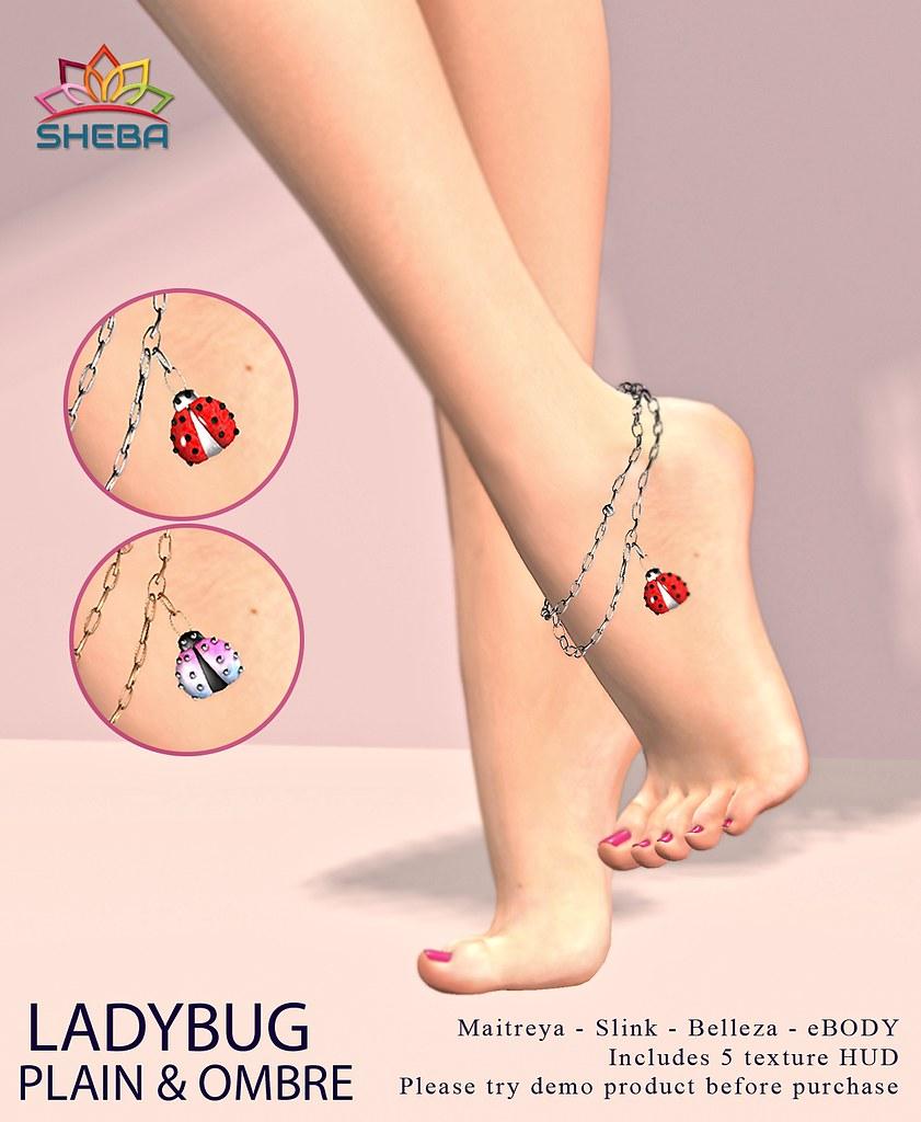 [Sheba] Ladybug anklet
