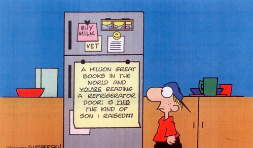 million books cartoon