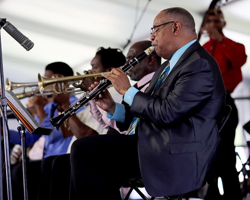 Dr. Michael White at Jazz Fest day 8 - 5.5.19. Photo by Bill Sasser.
