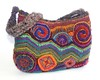 freeform crochet handbag Aztec