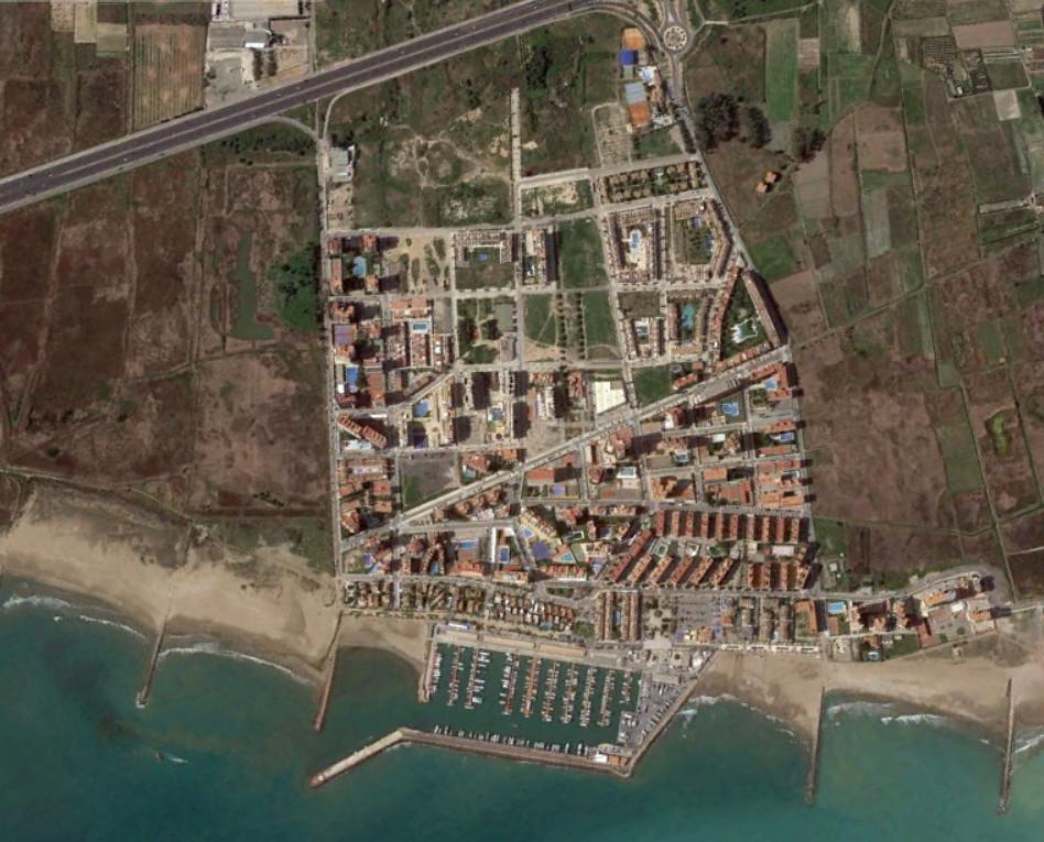 playa puebla de fornals, valencia, la puebla 20 km tierra adentro, después, urbanismo, planeamiento, urbano, desastre, urbanístico, construcción, rotondas, carretera