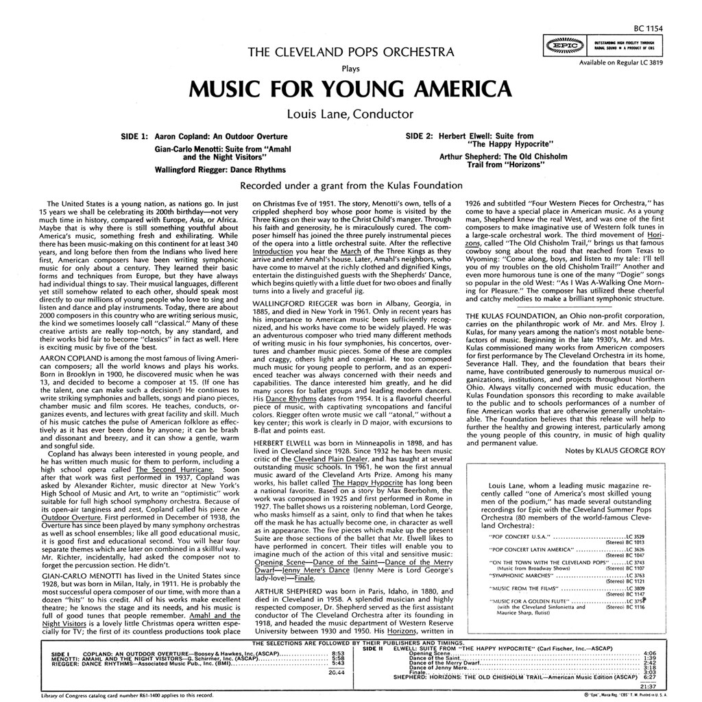 Louis Lane - Music for Young America