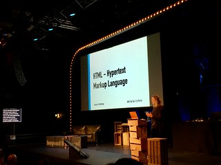 Shoutout to @LauraKalbag in @CarolStran's excellent @BTconf talk on writing clear, accessible documentation (which turns out to be great advice on good writing in general). | by adactio