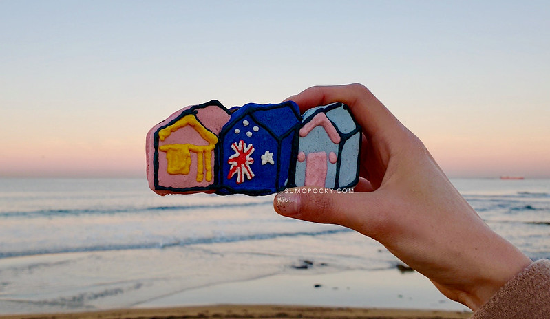 Brighton Bathing Boxes Macarons