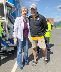 Rep. Zawistowski with Chris Nikolas organizer of the Suffield PMC Kids Ride. 2019 is 8th year. 100% of proceeds to Jimmy Fund. Over $250k raised since 2012 not incl 2019 which will prob be in excess of $50k.