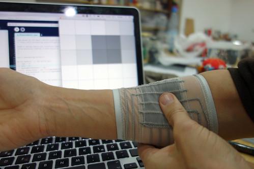 Textile Stretchy Pressure Matrix Sensor