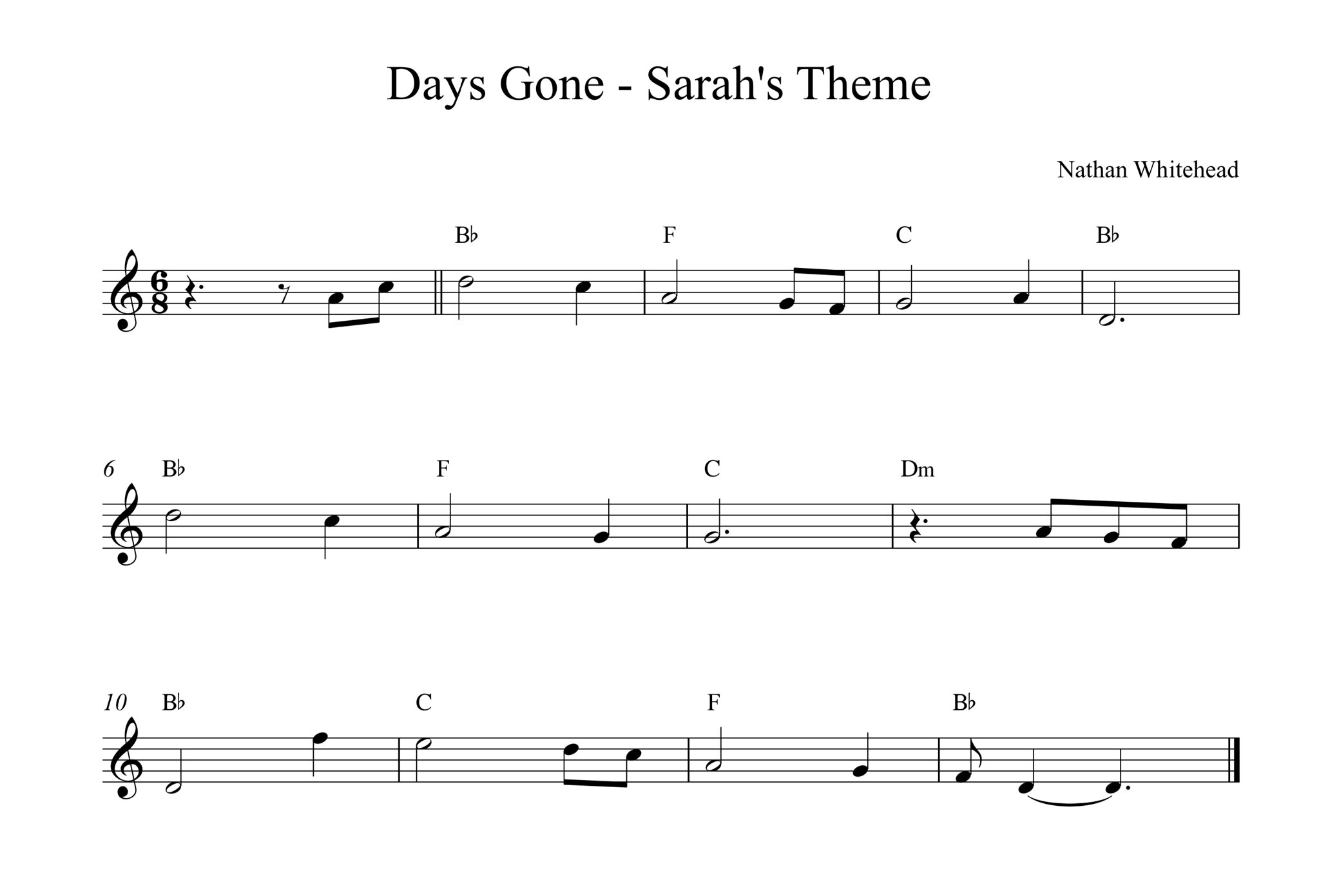Days Gone - Sarah's Theme