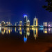 Yundang Lake Xiamen view at calm night