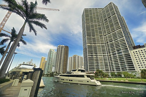 miamiriver marina brickellkey urbanexploration waterways water yacht palms cranes clouds cityscapes perspective dynamicperspective outdoors walkingaround building architecture