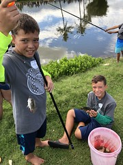 Maui Electric's 2019 Keiki Tilapia Fishing Tournament — May 11, 2019: Keiki caught tilapias of all different sizes. Regardless of size, everyone felt elated about their accomplishment.