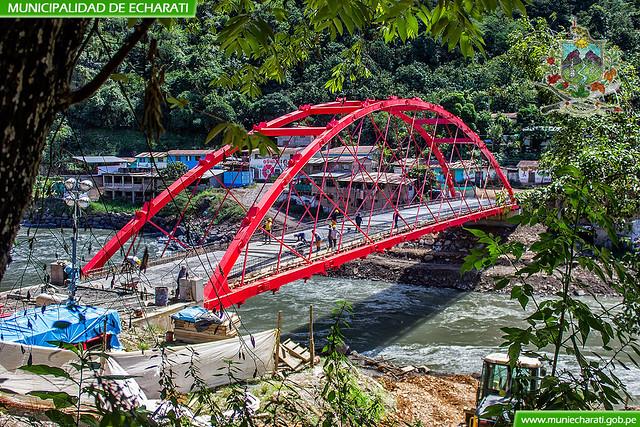 Realizan trabajos finales para la pronta entrega del puente Echarati