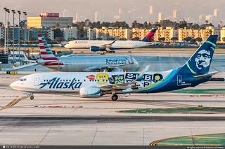 [LAX.2019] #Alaska.Airlines #AS #Boeing #B737 #B738 #N587AS #Sub.Pop #awp