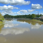 Preston city reflections in the River Ribble