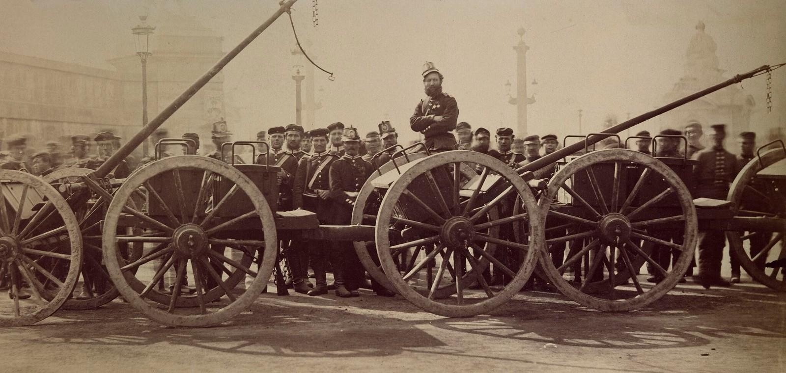 14. 1871. Прусская артиллерия на площади Согласия в Париже, 1 марта