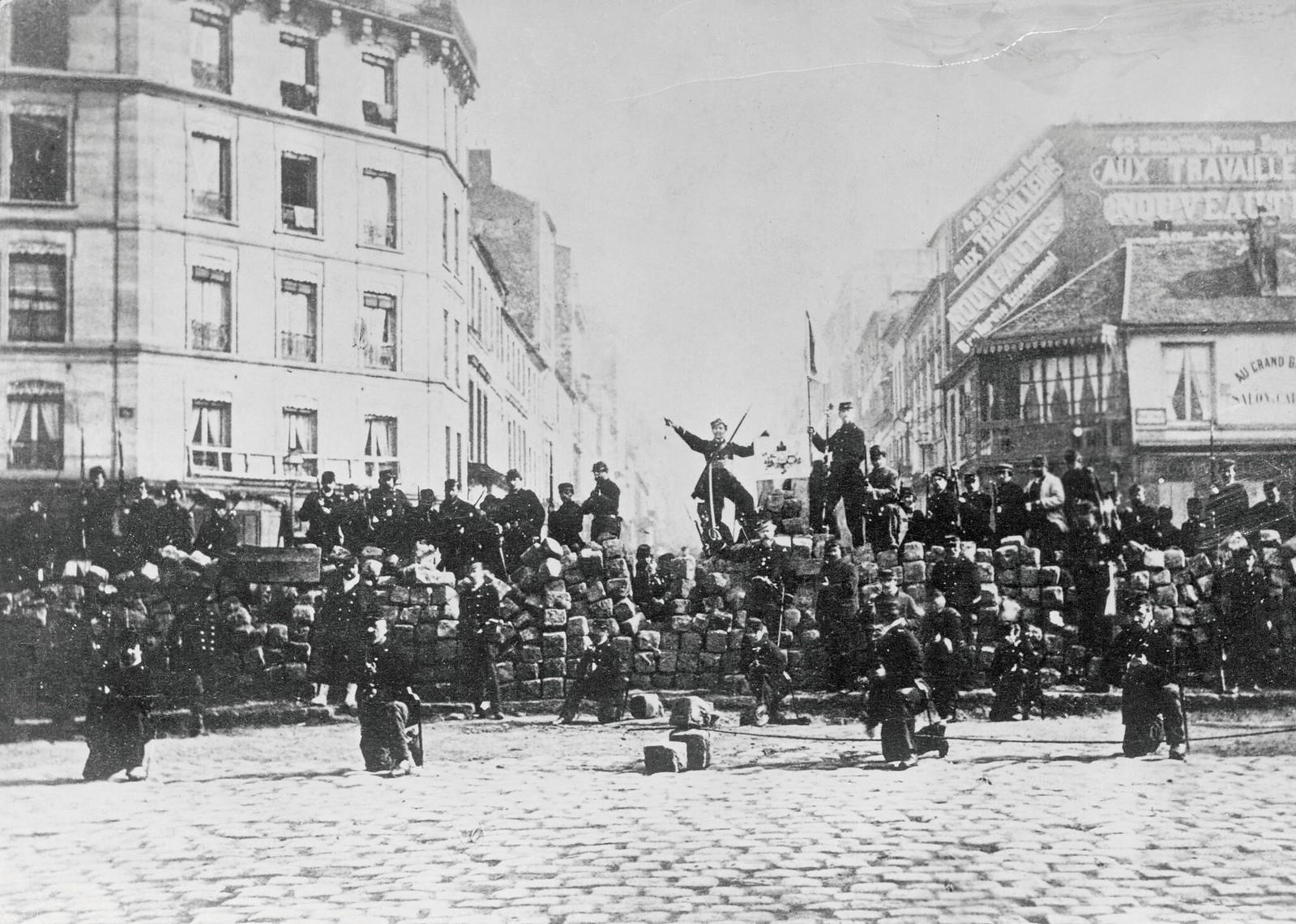 12.1871. Баррикада во время франко-прусской войны. 18 марта