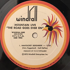 MOUNTAIN:LIVE THE ROAD GOES EVER ON(LABEL SIDE-B)
