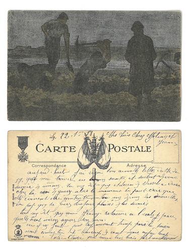 [Lettre de Joseph Pinet à sa famille, 21 janvier 1918, vue combinée]