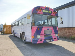 Q275LBA saved from scrap seen here in the yard of Tyneside heritage vehicles