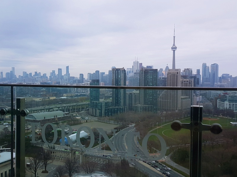 Toronto view from Hotel X