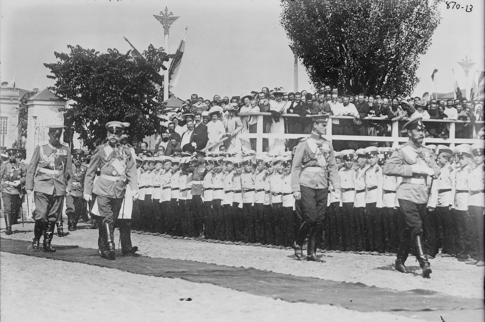 1909. Император Николай II в Полтаве, 27 июня.
