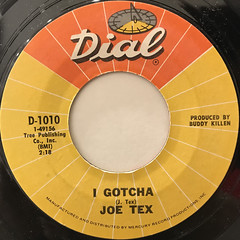 JOE TEX:I GOTCHA(LABEL SIDE-A)