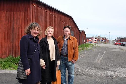 Barbro Westling, Ia Westman och Peter Johansson